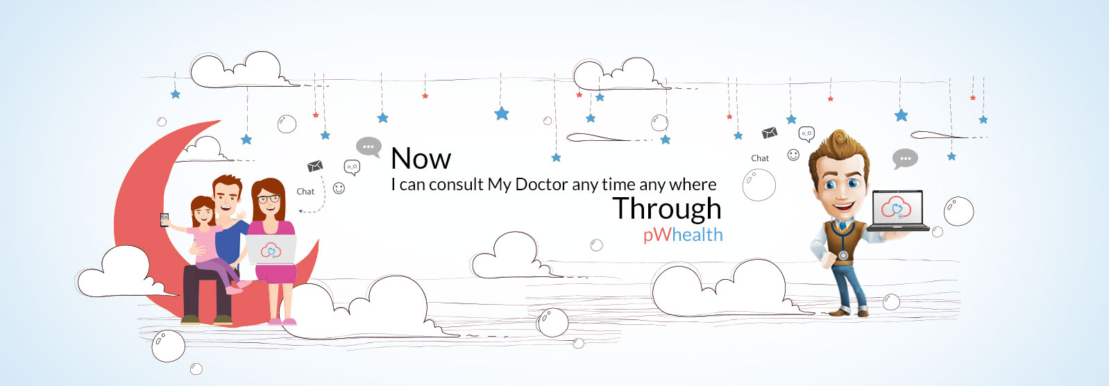 Doctor Consultation Banners Formal Welcome Banners
